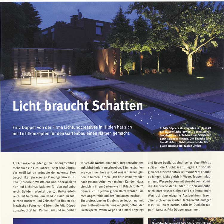 LUC lichtundcreatives | Licht braucht Schatten
